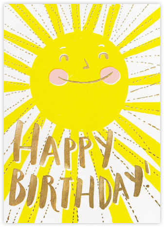 Birthday cards for him online at paperless post sunny birthday m4hsunfo