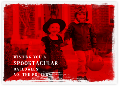 Smudge Border (Horizontal) - Paperless Post - Holiday cards