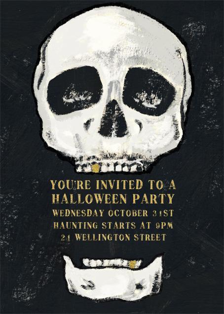 Seymour Bones - Paperless Post - Halloween invitations