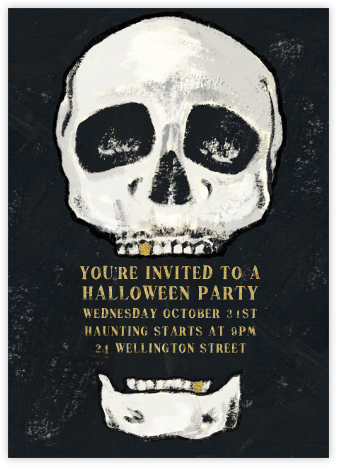 Seymour Bones - Paperless Post - Halloween invitations