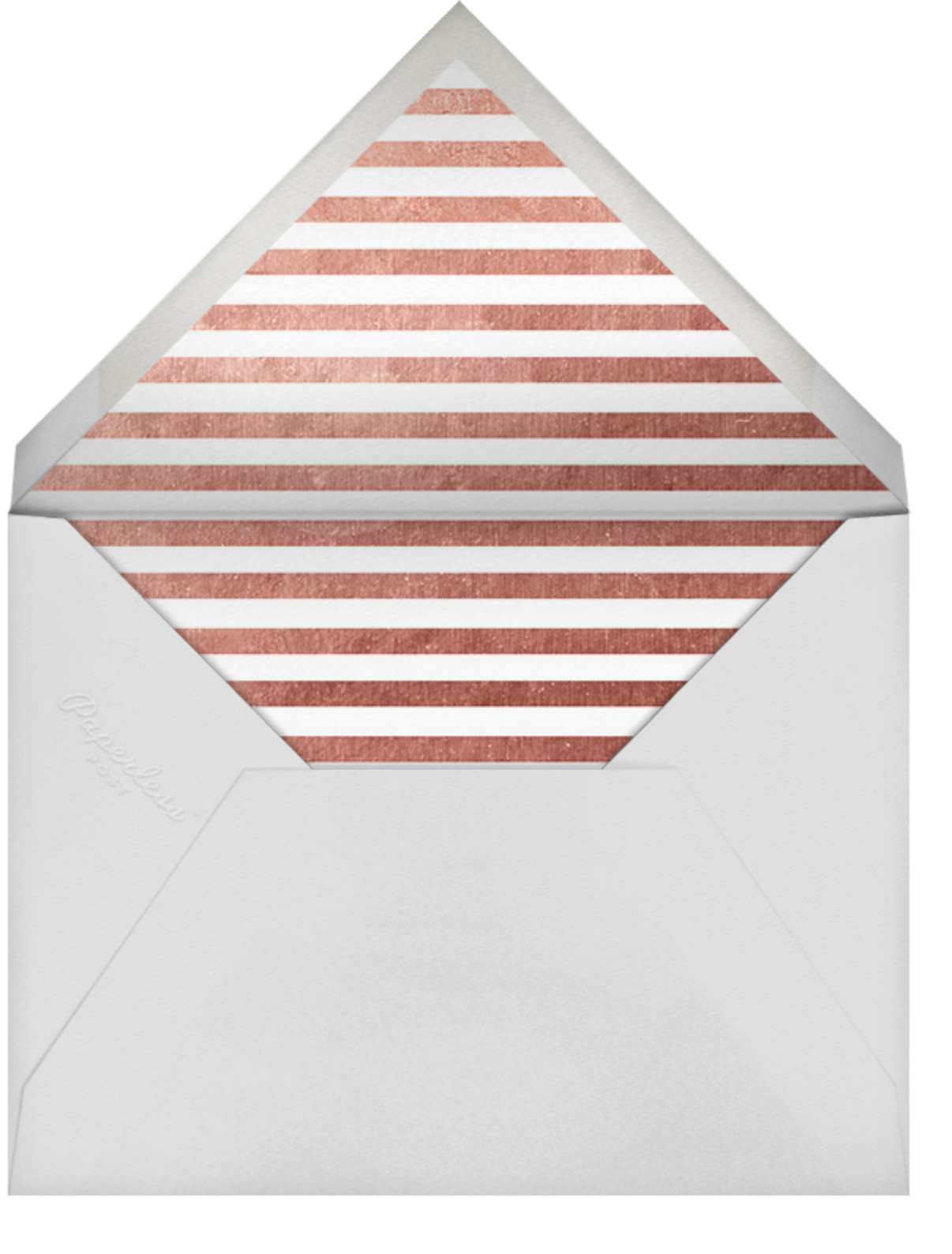 Confetti (Save the Date) - White/Rose Gold - kate spade new york - Party save the dates - envelope back