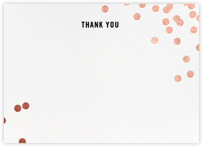 Confetti (Stationery) - White/Rose Gold - kate spade new york - Wedding thank you notes