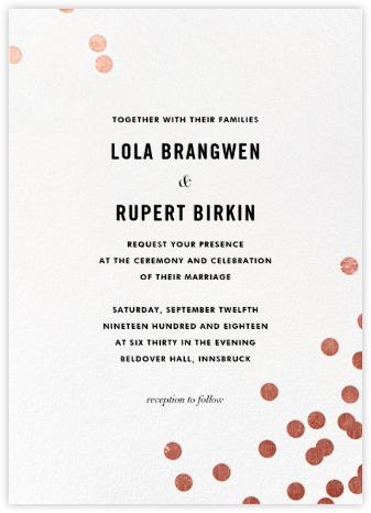 Confetti (Invitation) - White/Rose Gold - kate spade new york - Wedding Invitations