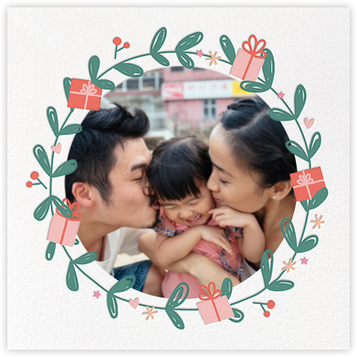 Giving Wreath - Little Cube - Photo Christmas cards