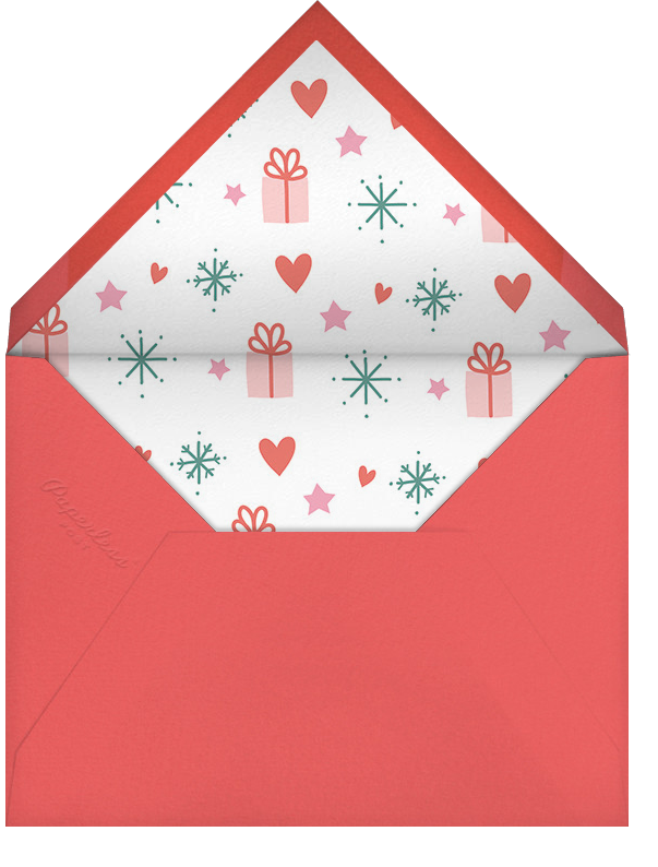 Giving Wreath - Little Cube - Holiday cards - envelope back