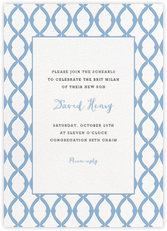 Lady Bexborough - Spring Rain - Paperless Post - Bris and baby naming invitations