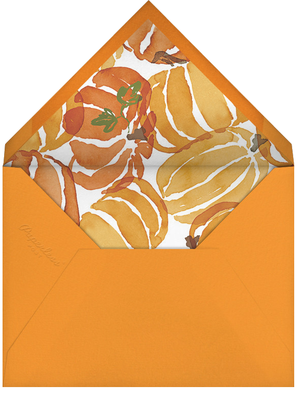 Gourd Times - Crate & Barrel - Crate & Barrel invitations - envelope back