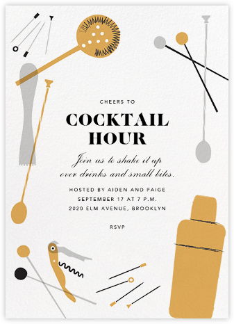 Home Is Where the Bar Is - Crate & Barrel - Happy Hour Invitations