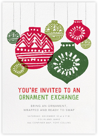 Hung Up - Crate & Barrel - Invitations