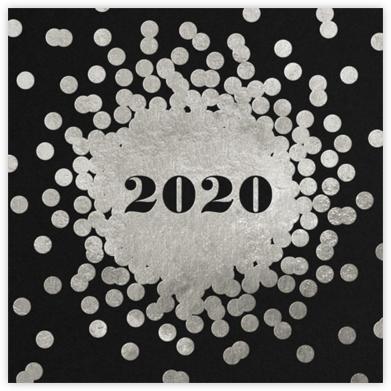 Confetti New Year (Invitation) - Silver/Black - kate spade new york -