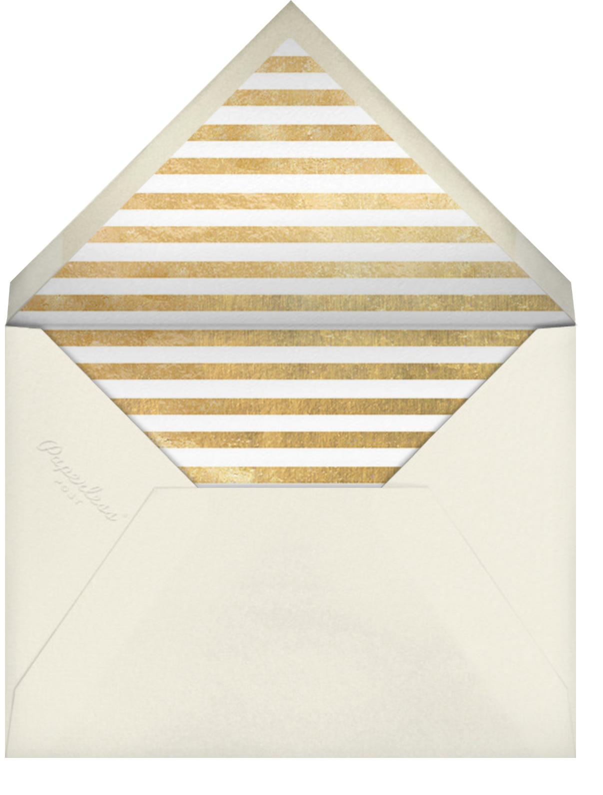 Confetti New Year (Invitation) - Gold/Cream - kate spade new york - New Year's Eve - envelope back