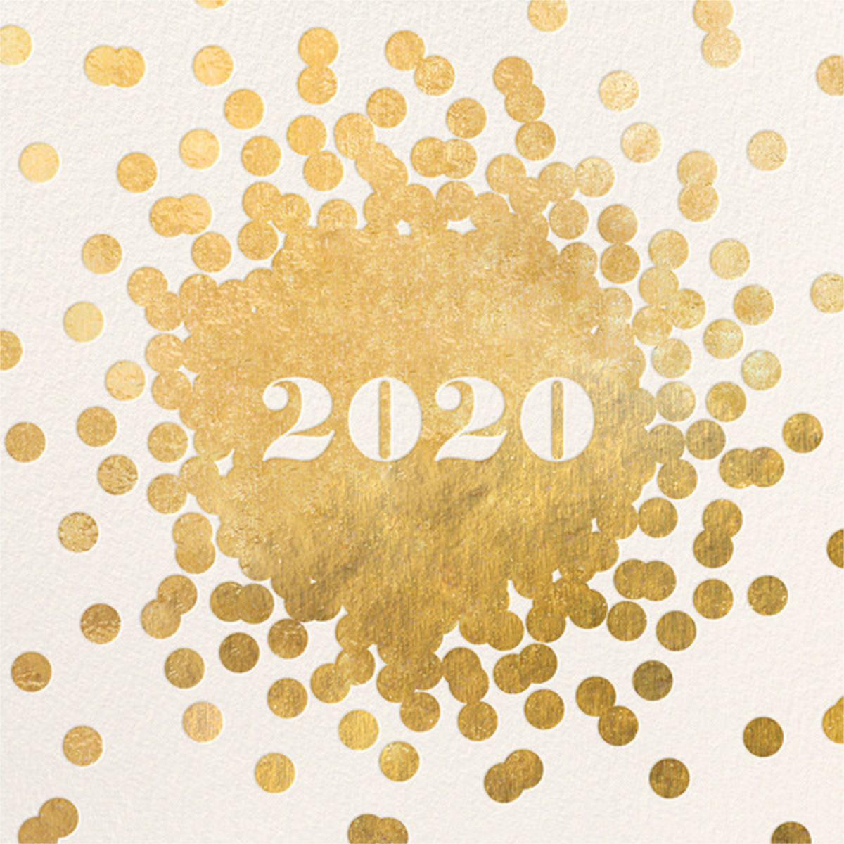 Confetti New Year (Invitation) - Gold/Cream - kate spade new york - New Year's Eve