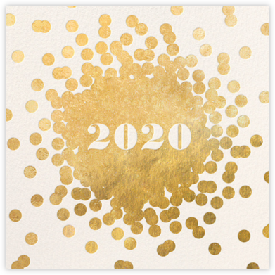 Confetti New Year (Invitation) - Gold/Cream - kate spade new york - New Year's Eve Invitations
