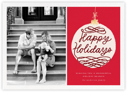 Holiday Ornament (Photo) - Red - kate spade new york - Holiday Cards