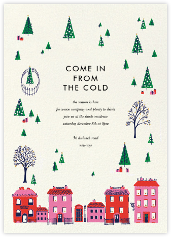 Holiday Village - kate spade new york - Winter Party Invitations