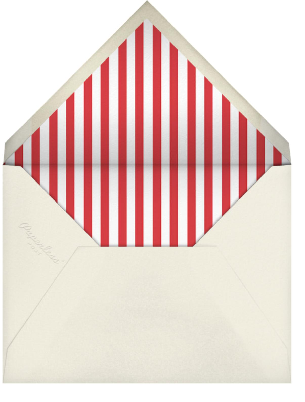 Holiday Village - kate spade new york - Winter entertaining - envelope back