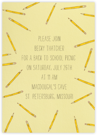 Scattered Pencils - Paperless Post - Back-to-school invitations