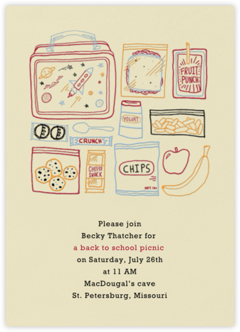 Space Lunch Box - Paperless Post - Invitations