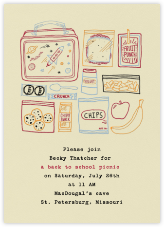 Space Lunch Box - Paperless Post - Back-to-school invitations