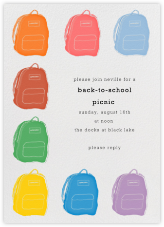 Backpacks - Paperless Post - Invitations