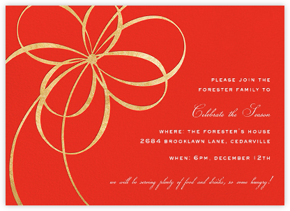 Belle Boulevard - Red/Gold - kate spade new york - Business Party Invitations