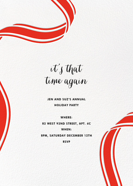 Ellis Hall II (Invitation) - Red - kate spade new york - Company holiday party