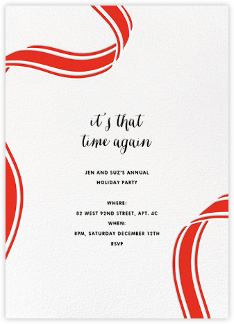 Ellis Hall II (Invitation) - Red - kate spade new york - Christmas invitations