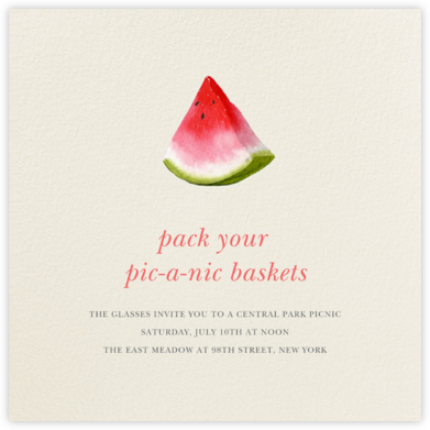 Slice of Summer - Felix Doolittle - Summer entertaining invitations