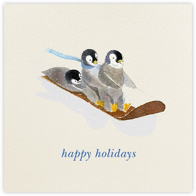 South Pole Sledders (Greeting) - Felix Doolittle - Holiday Cards