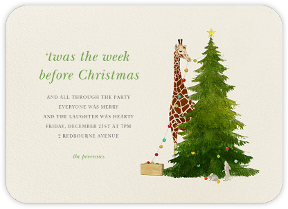 Tall Trimmer (Invitation) - Felix Doolittle - Christmas invitations