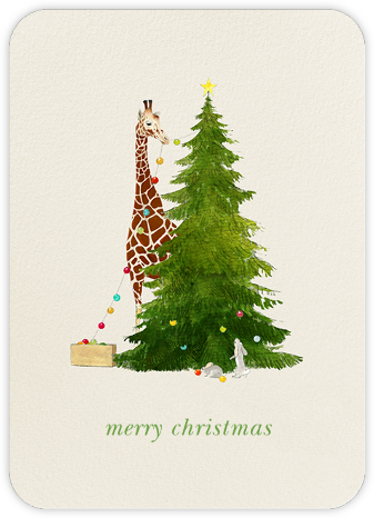 Tall Trimmer (Greeting) - Felix Doolittle - Christmas Cards