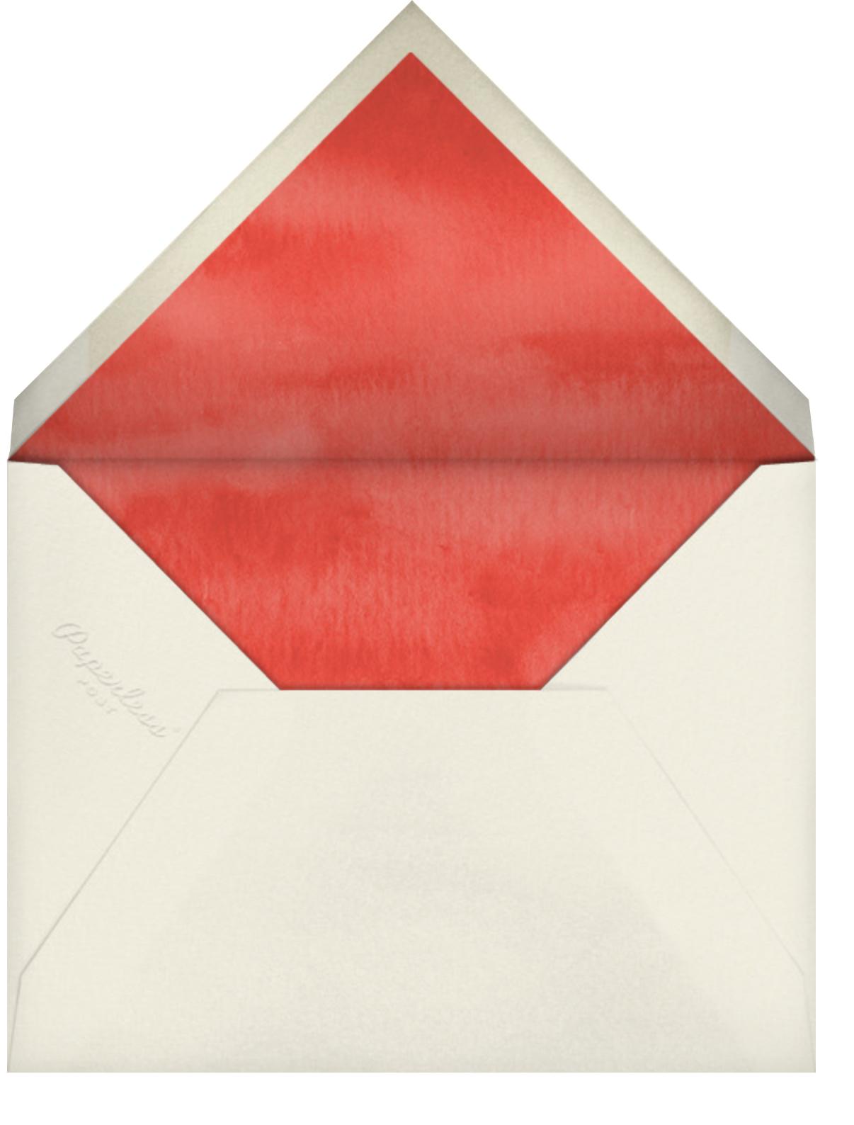 Tall Trimmer (Greeting) - Felix Doolittle - Christmas - envelope back