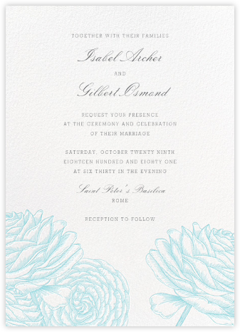 Ranunculus - Caribbean - Paperless Post - Wedding Invitations
