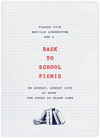 Graph Paper - Paperless Post - Back-to-school invitations