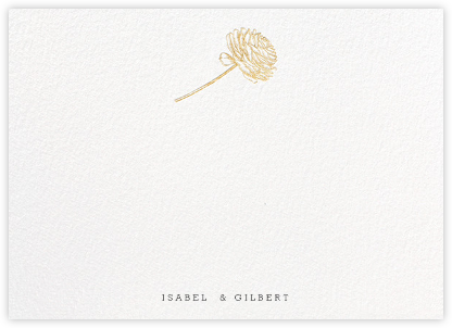 Ranunculus (Stationery) - Gold - Paperless Post -