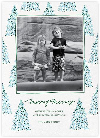Fir Forest Frame (Tall) - Blue - Linda and Harriett -