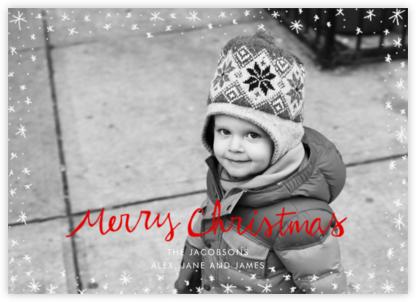 Christmas Wink (Horizontal) - Red - Linda and Harriett - Photo Christmas cards