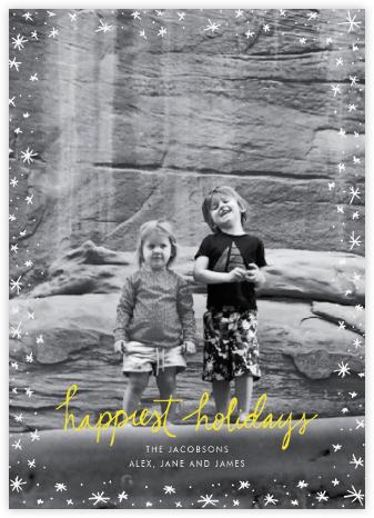 Holiday Wink (Tall) - Yellow - Linda and Harriett -