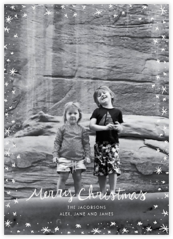 Christmas Wink (Tall) - White - Linda and Harriett -