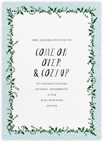 Holly on the Bannister (Tall) - Glacier - Mr. Boddington's Studio - Holiday invitations