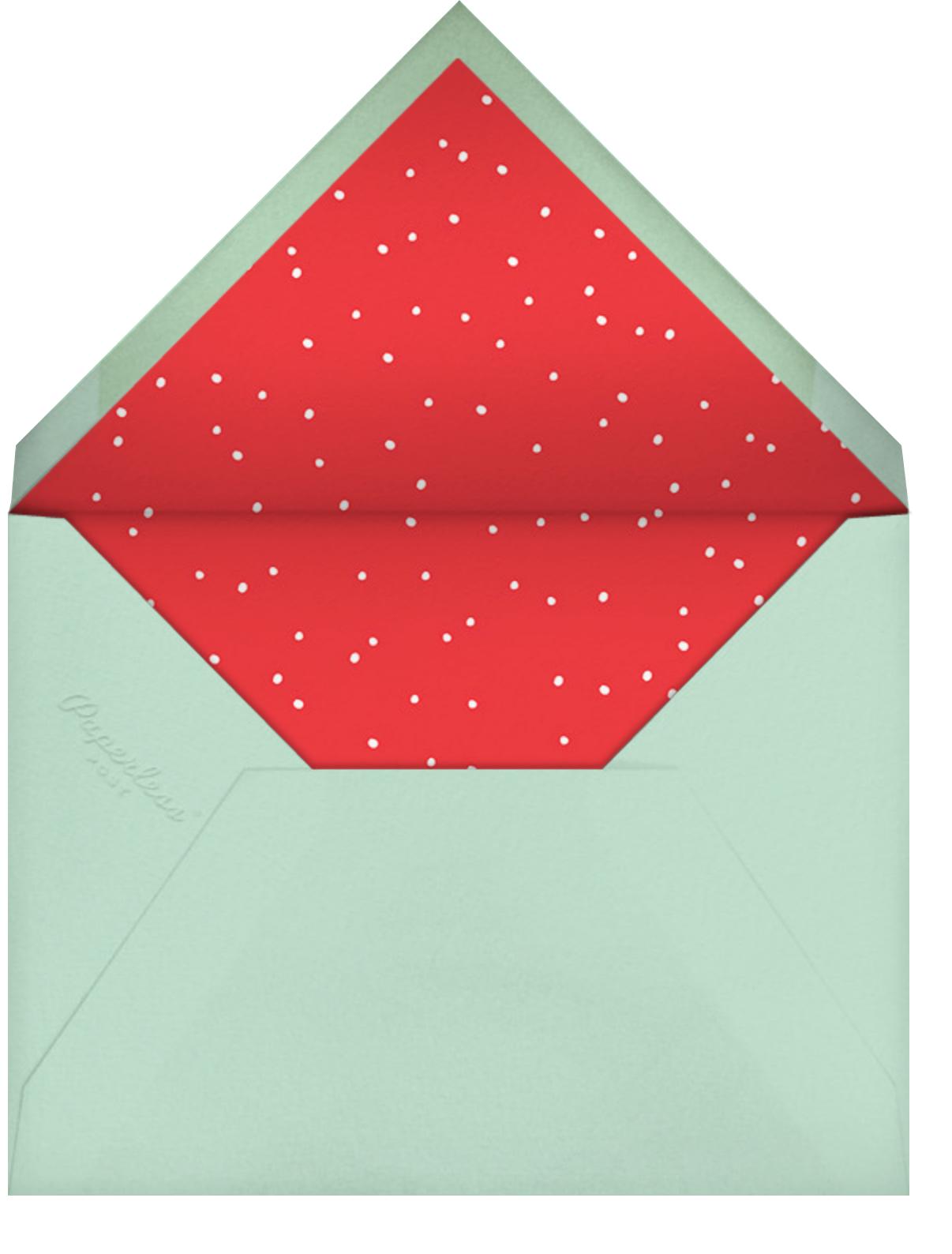 Kaleidoscopic Christmas (Greeting) - Mint - Linda and Harriett - Christmas - envelope back