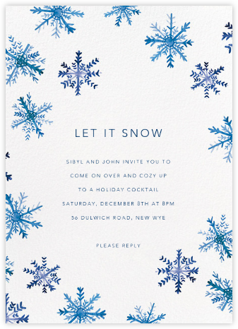 Flake Fall - Linda and Harriett - Holiday party invitations