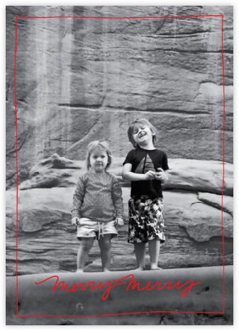 Cursive Merry (Tall) - Red - Linda and Harriett -