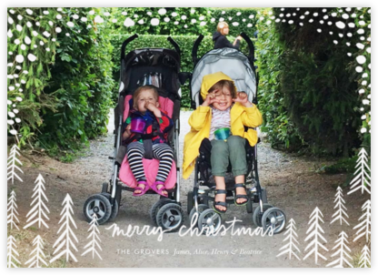 Pollenpine Christmas (Horizontal) - Linda and Harriett - Christmas Cards