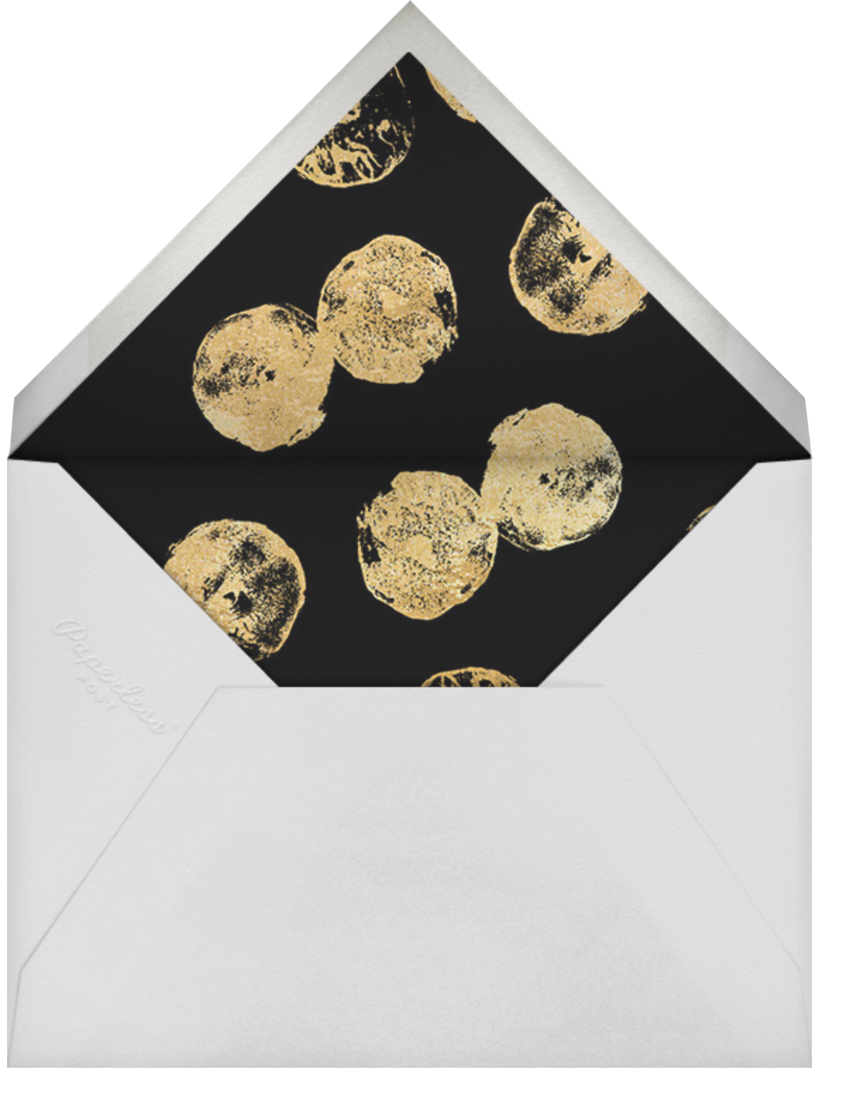 Framework - Crimson/Gold - Kelly Wearstler - Christmas party - envelope back