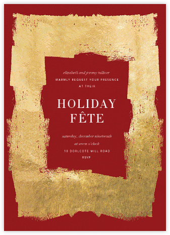 Framework - Crimson/Gold - Kelly Wearstler - Holiday party invitations