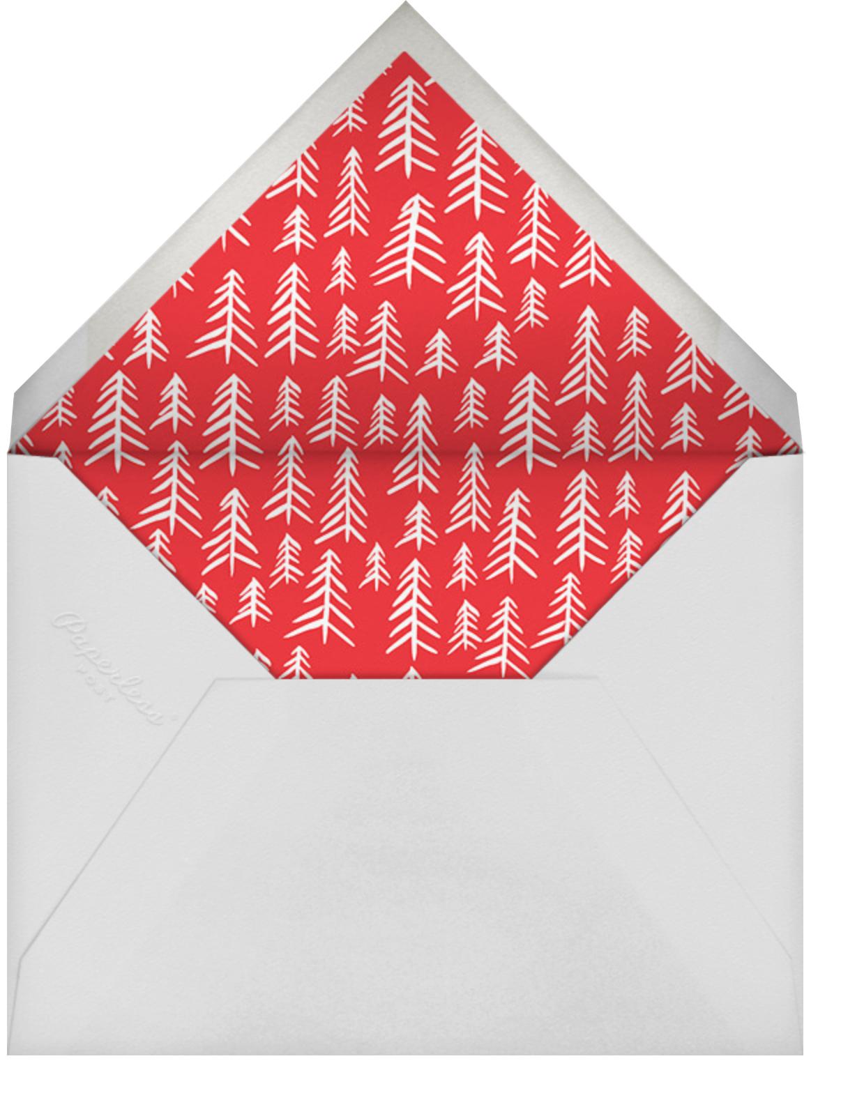 Candy Stripe Christmas (Tall) - Linda and Harriett - Christmas - envelope back