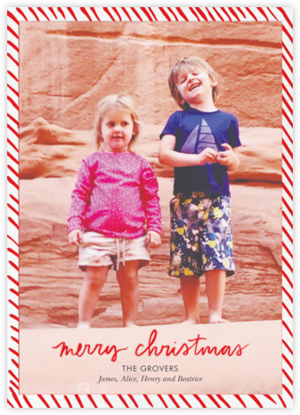Candy Stripe Christmas (Tall) - Linda and Harriett -