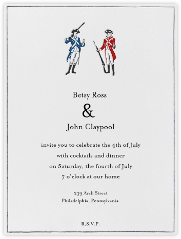 Party Like It's 1776 - Paperless Post - Invitations