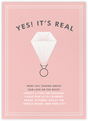 Real Love, Real Rock - Derek Blasberg - Engagement party invitations